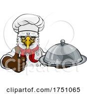 Poster, Art Print Of Eagle Chef Mascot Sign Cartoon Character