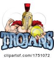 Trojan Tennis Sports Mascot
