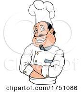 Poster, Art Print Of Cartoon Happy Italian Chef