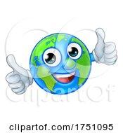 Earth Globe World Cartoon Character Mascot