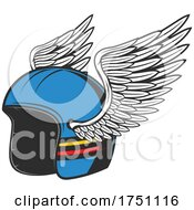 Motorcycle Helmet With Wings