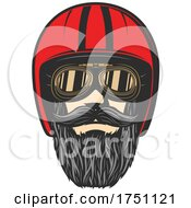 Biker Face With Helmet by Vector Tradition SM