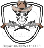 Cowboy Skull And Pistols by Vector Tradition SM