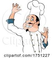 Poster, Art Print Of Cartoon Happy Chef