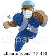 Doctor Or Nurse Superhero Medical Concept