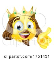 Poster, Art Print Of King Emoticon Emoji Face Gold Crown Cartoon Icon
