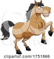 Horse Mascot Rearing by Hit Toon