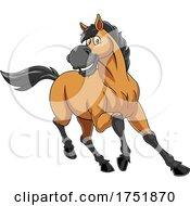 Horse Mascot Running