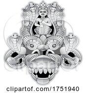 Silver Sri Lanka Devil Mask