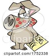 Cartoon Smooched Pig