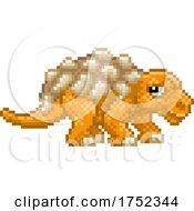Edmontonia Pixel Art Dinosaur Video Game Cartoon
