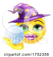 Poster, Art Print Of Witch Emoticon Face Emoji Cartoon Icon