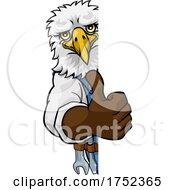 Eagle Plumber Mechanic Handyman Peeking Sign