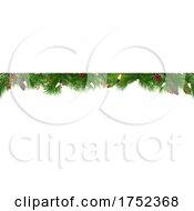 Christmas Garland With Lights Border