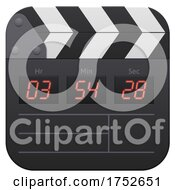 3d Clapperboard Icon