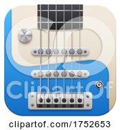 3d Guitar Icon