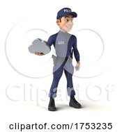 3d White Male Police Officer on a White Background by Julos #COLLC1753235-0108