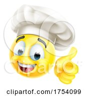 Poster, Art Print Of Chef Emoticon Cook Cartoon Face