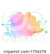 Poster, Art Print Of Colourful Watercolour Splatter