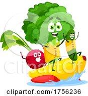 Veggies On A Banana Boat