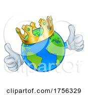 King Earth Globe World Mascot Cartoon Character