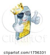 Sim Card Cool Mobile Phone King Cartoon Mascot