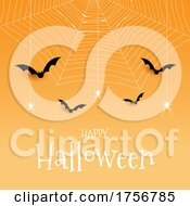 Spiders And Bats Halloween Background