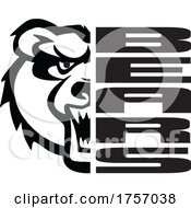 Bears Mascot Design With A Face Next To Text