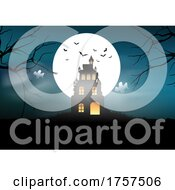 Spooky Halloween Landscape Background