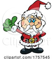 09/27/2021 - Cartoon Santa Holding A Thumb Up