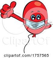 09/27/2021 - Cartoon Masked And Vaccinated Party Balloon Mascot