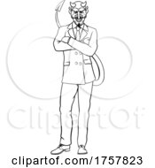 Poster, Art Print Of Devil Evil Businessman In Suit