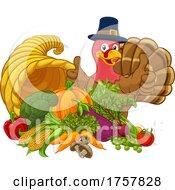 Thanksgiving Turkey Cornucopia Horn Of Plenty