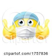 Poster, Art Print Of Mask Emoticon Emoji Thumbs Up Ppe Doctor Nurse