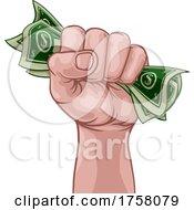 Poster, Art Print Of Money Cash Fist Hand Comic Pop Art Cartoon