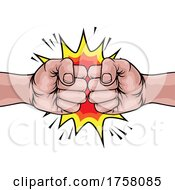 Poster, Art Print Of Fists Boxing Bump Punch Cartoon Explosion