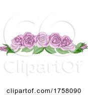Rose Flower Design Woodcut Vintage Retro Style