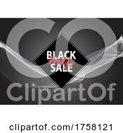 Black Friday Sale Background With Flowing Lines Design