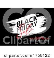 Black Friday Sale Background With Grunge Brush Stroke Design