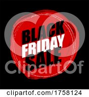 Grunge Black Friday Sale Background