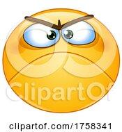 Cartoon Grumpy Yellow Smiley Emoticon Emoji