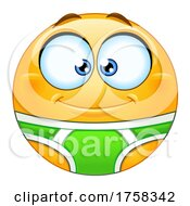 Cartoon Yellow Smiley Emoticon Emoji In Underwear