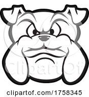 Black And White Bulldog Mascot Head by Johnny Sajem
