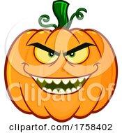 Cartoon Evil Halloween Pumpkin Jackolantern