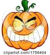 Cartoon Crazy Halloween Pumpkin Jackolantern