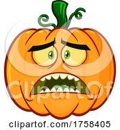Cartoon Scared Halloween Pumpkin Jackolantern