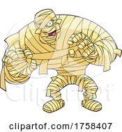 Cartoon Big Mummy Walking by Hit Toon