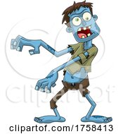 Cartoon Walking Zombie by Hit Toon