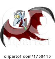 Cartoon Flying Vampire by Hit Toon