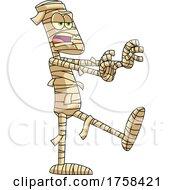 Cartoon Walking Mummy by Hit Toon